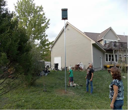 bat house installation service in michigan rh batsbirdsyard com backyard bath house backyard bath house