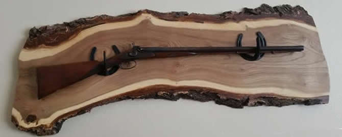 Handcrafted Gun Racks Made From Horseshoes