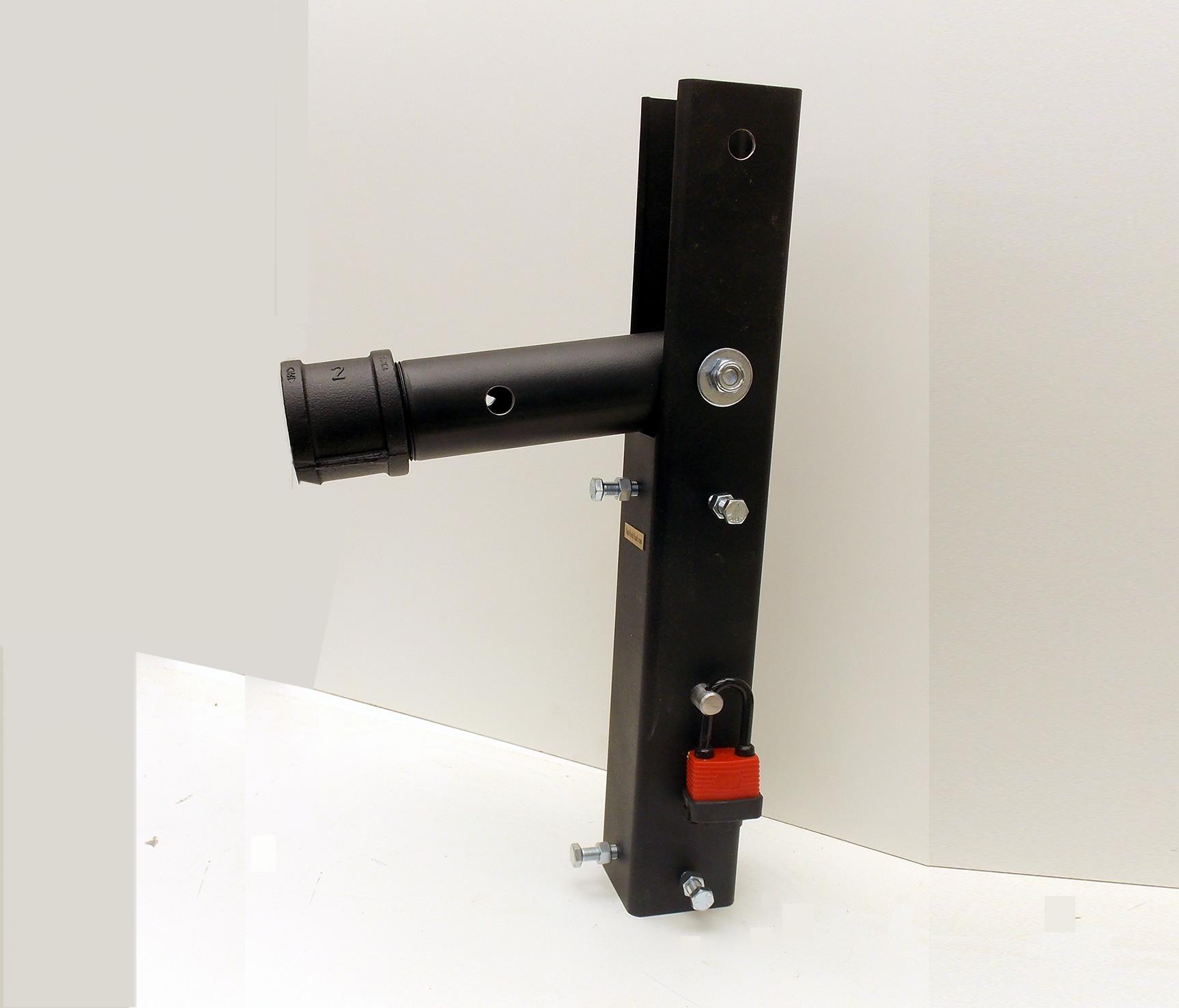 Secure E-Z Up Swivel Mounting Bracket for a Steel Pole Mounted Bat House