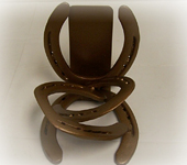 Double Ringer Horseshoe Bookend, Single Unit