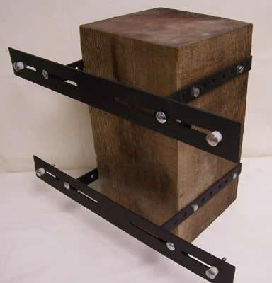 Wood Post or Pole Single Unit Mounting Bracket for Bat Houses